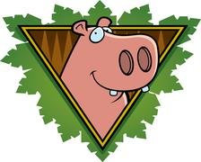 Hippo safari icon Stock Illustration