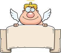 Angel banner Stock Illustration