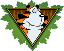 Tiger safari icon Stock Illustration