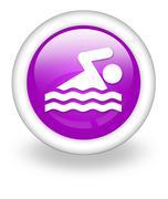 icon, button, pictogram swimming - stock illustration
