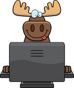 Moose computer Stock Illustration