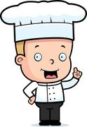 child chef - stock illustration