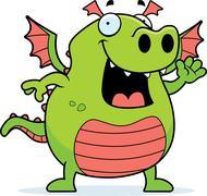 Stock Illustration of dragon waving