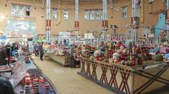 Bessarabskiy indoor Market Kiev Stock Footage
