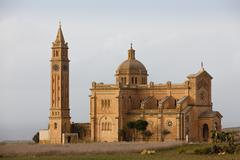 basilica of the blessed virgin of ta' pinu - stock photo