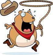 Rodeo hamster Stock Illustration