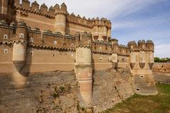 coca castle (castillo de coca) is a fortification constructed in the 15th cen - stock photo