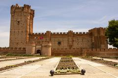 castle of the mota in medina del campo,valladolid,spain - stock photo