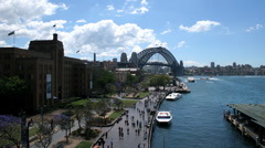 Sydney Harbour 8 1080p timelapse Australia. Beautiful busy harbour day Stock Footage