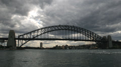 Sydney Harbour 7 1080p timelapse Australia. Dark clouds brewing over harbour Stock Footage