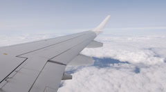 Airplane Wing Above Cloud Stock Footage