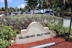 Hillsboro inlet park Stock Photos