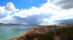 Fluffy Dramatic Clouds Lake Meade Stock Footage