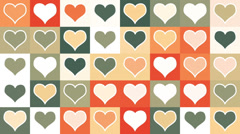 Heart shape tiles loopable background Stock Footage