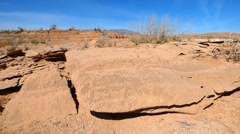 Red Sandstone Sheets at Lake Meade Stock Footage