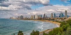 Tel Aviv, riviera panorama Stock Photos