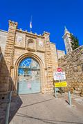 John Baharim Catholic Church entrance - stock photo