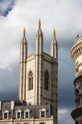 st mary aldermary church - stock photo