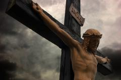 Jeesus kristus rajat dramaattinen taivas Kuvituskuvat