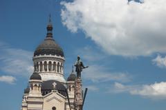 Orthodox christian byzantine style church in cluj napoca Stock Photos