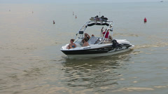Warm afternoon at the beach in Grand Bend Ontario. Stock Footage