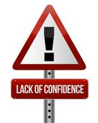 Lack of confidence illustration design over white background Piirros
