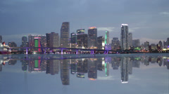 Miami Timelapse Clear Reflection Stock Footage