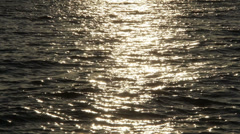 Calm sea with sunset Stock Footage