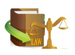 Legislation concept. balance and book illustration design over white Stock Illustration