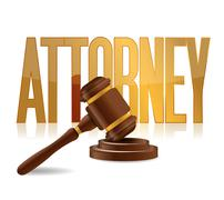 attorney at law sign illustration design over a white background - stock illustration
