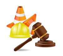 work accident lawyer concept illustration design over white - stock illustration