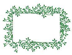 Stock Illustration of fresh green leaves banner illustration design over white