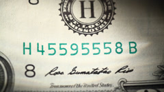 Close up of US Dollar Stock Footage