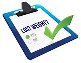 Stock Illustration of lost weight yes or no selection illustration design over white