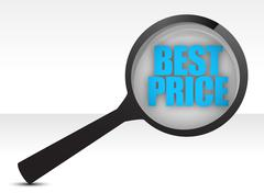 best price, promotional sale illustration design over white - stock illustration