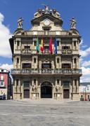 Town hall of Pamplona, Navarra, SPAIN. Stock Photos