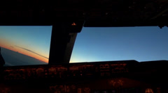 Sunset from Aeroplane Cockpit Stock Footage