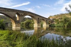 Puente la Reina bridge , Navarre Spain Stock Photos