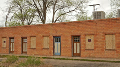 Abandoned Buildings Motel Route 66 Ghost Town Stock Footage