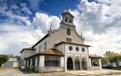 Asturias in Oviedo church - stock photo