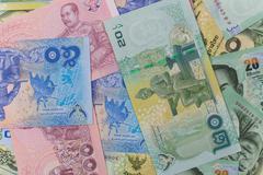 Stock Photo of close up of thai money