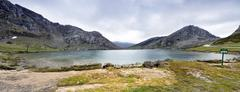 Fantastic lake Enol Stock Photos