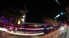 Ocean Drive Miami Timelpase 4K - stock footage