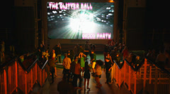Young people dance disco at the nightclub of the cruise ship Stock Footage