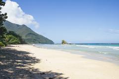 Beach in Puerto Princesa in the Philippines - stock photo