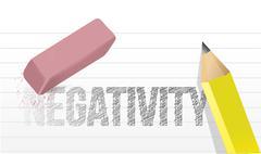 Erasing negativity concept illustration design over a white background Stock Illustration