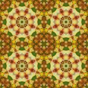 Seamless floral pattern paintings on fabric Stock Illustration