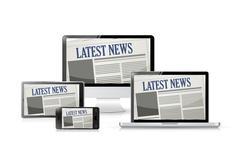 Newspapers. technology tools. illustration Stock Illustration