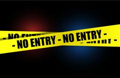 Stock Illustration of no entry yellow, warning tape illustration design over a dark background