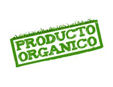 Stock Illustration of organic product sign isolated in white.